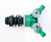 "3/4""BSP Tank Adapter &TWIN Snap-On garden hose connectors.Individual on/off taps"